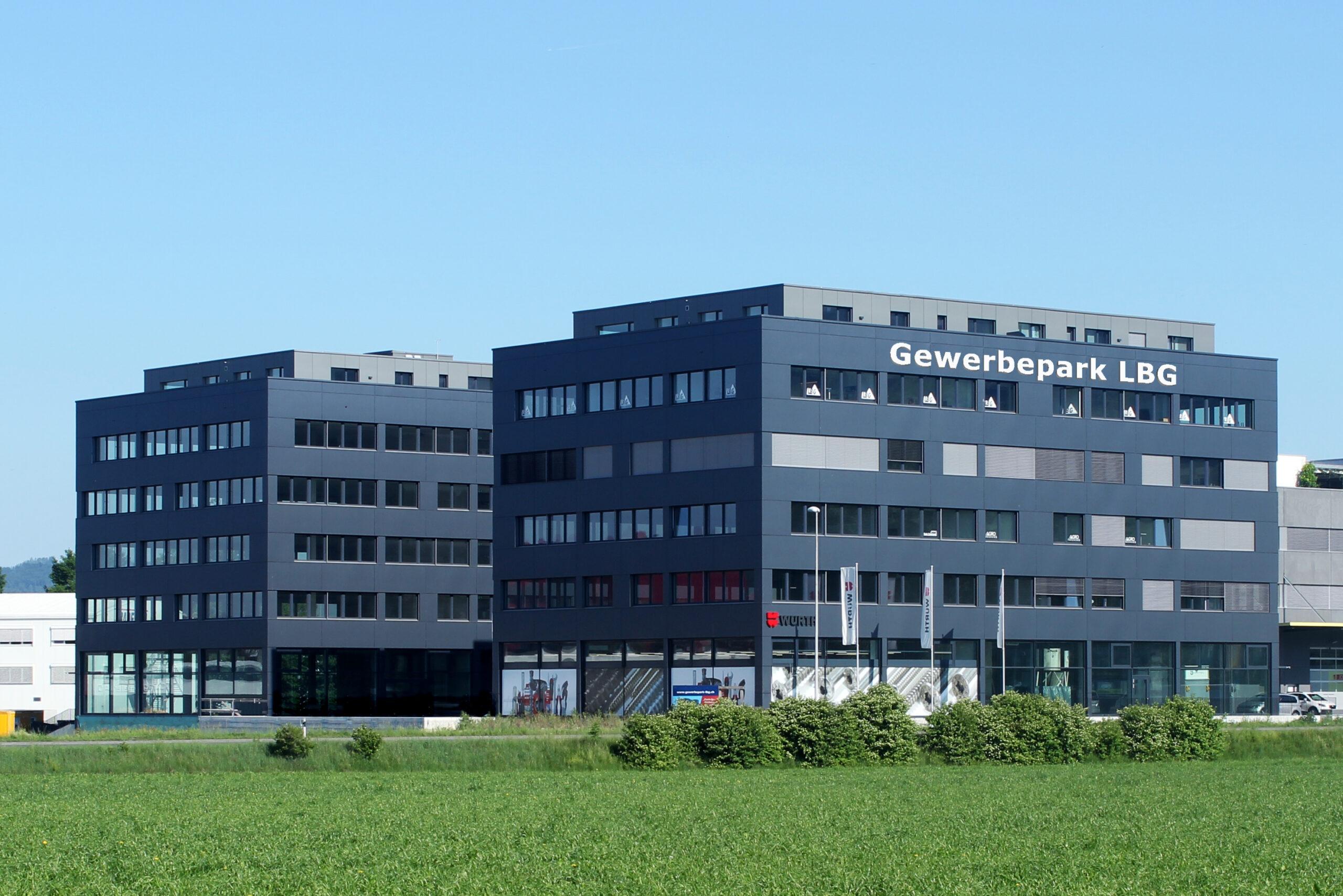 Der Gewerbepark LBG in Schenkon beherbergt verschiedenstes Gewerbe in Miete